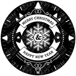 Merry Christmas and Happy New Year Clock
